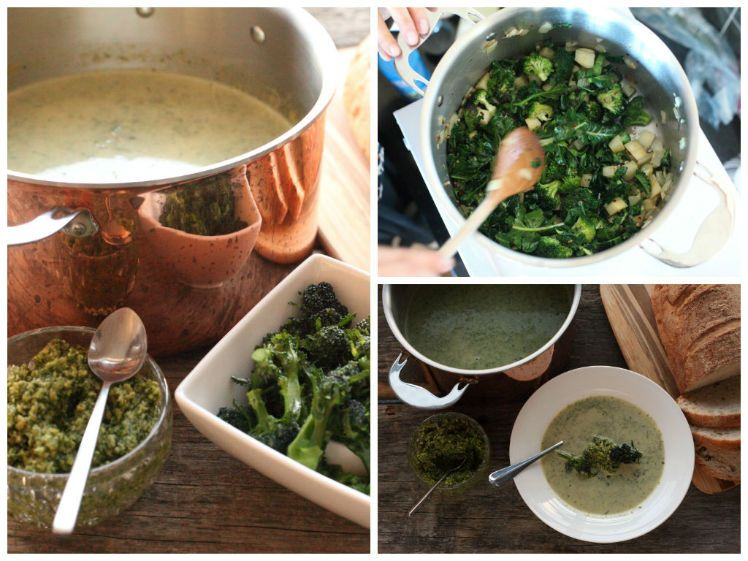 broccoli soup collage 2